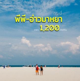ทัวร์เกาะพีพี อ่าวมาหยา เกาะไผ่ อ่าวปิเละ เที่ยวกระบี่