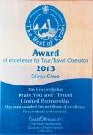 เครื่องหมายมาตรฐาน The Best of Krabi ปี 2013